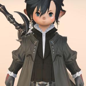 【ミラプリ】黒の剣士・全ジョブ着られるオシャレなイシュガルドコート『アデプトガウン』
