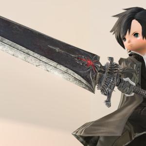 漆黒編を象徴する暗黒騎士の超大型剣・AF4武器『ウェザード・シャドウブリンガー』