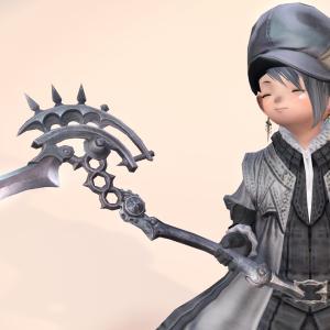 漆黒のエッダちゃん武器でリーパー気分!戦士の「鎌」装備『ブラックボゾム・グリムリーパー』