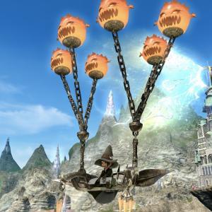 可愛いボム風船の空飛ぶベンチ・コボルド族の蛮族クエストマウント『ボムバルーン』