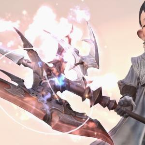戦士のエウレカウェポン(EW)第四形態・炎が包む光る斧『ピューロスバトルアクス』