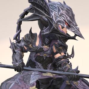 竜騎士のAF4装備・少し軽量化された竜の鎧『プテロスレイバー』シリーズ(ララフェル男子Ver.)