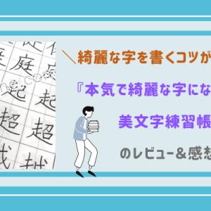 『本気で綺麗な字になるための美文字練習帳』を使った感想