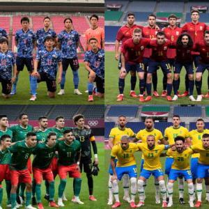 五輪サッカーベスト4 … ブラジル!メキシコ!スペイン!日本!!!!
