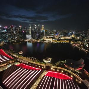 View from the 56th floor of Marina Bay Sands – SkyPark Observation Deck –