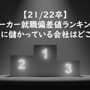 【21/22卒】メーカー就職偏差値ランキング 本当に儲かっている会社はどこ?編