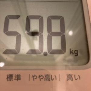 若干体重増えた…