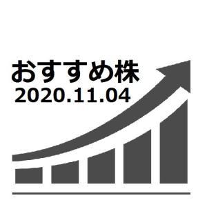 AI株価予想 おすすめ株 2020.11.04