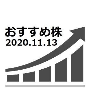 AI株価予想 おすすめ株 2020.11.13