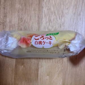 セブン♡ごろっと白桃ケーキ♡コンビニスイーツ