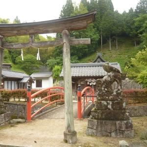 大きくなる御神体の石  赤秦神社