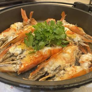 新鮮海老で簡単インド/タイ・コラボ料理