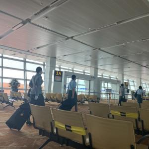 ガラガラのニューデリー国際空港