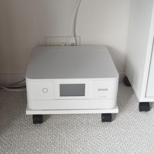 プチDIY◇プリンターをキャスター付きの台にのせる。シンプルが便利!