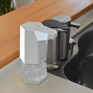 キッチンのアルコール除菌液◇自動のディスペンサーに替えて便利になりました【電池式】