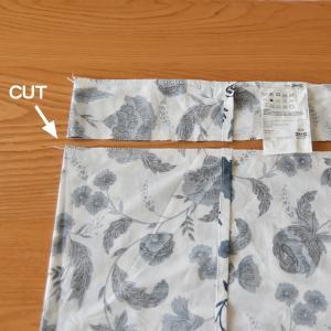 IKEA サイズの合わない枕カバー◇直線縫いでサイズ直し