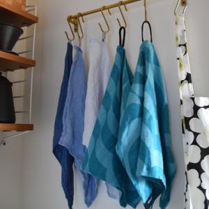 iittala◇ティータオルを縫い直しました&ループの付け方
