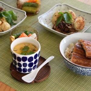 マリメッコで茶碗蒸し◇だしパックとビタクラフトで簡単和食【Vita Craft Double Grill / marimekko oiva Koppelo】