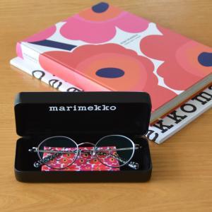 marimekko◇小さなウニッコ柄のメガネを作りました 専用ケースとメガネ拭き付きフレーム