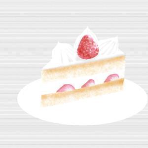 ショートケーキを描いてみました