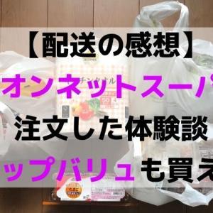 【感想】イオンネットスーパーの買い物体験談(配送料かかるけど時短におすすめ)