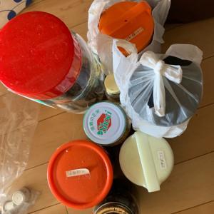 手作り保存食品を処分