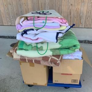義母宅の片付け 大量のタオルを寄付