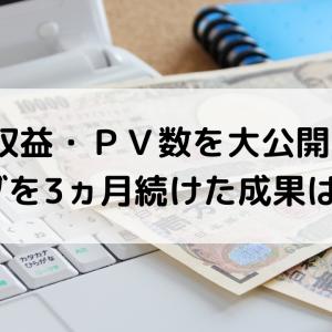 【ブログ運営報告】ブログ3ヵ月目の収益、PV数はいかに?