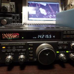 買い取りしたFT-850を引っ張り出して調整しました