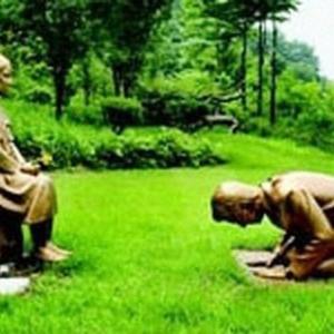 韓国植物園でまた慰安婦像