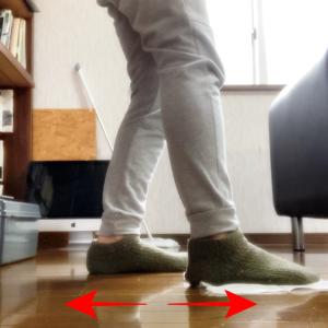 【足でクイックルワイパーをかけたらスクワットみたいな効果を感じた】