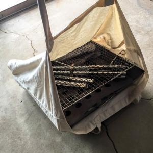 【190円】ファイアグリルの収納にはユニクロのエコバックが最適!