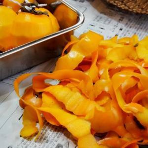 柿は皮ごと食べられる!?柿の栄養は果肉と皮の間の「皮目」に多い!