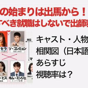 恋の始まりは出馬から!?~すべき就職はしないで出師表~キャスト・人物紹介、相関図(日本語)、あらすじ、視聴率は?