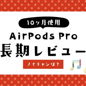 AirPods Proを10ヶ月使用した長期レビュー【ノイズキャンセリング】