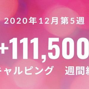 スキャルピング週間成績 +111,500 2020年12月第5週