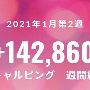 スキャルピング週間成績 +142,860 2021年1月第2週