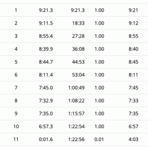 10km走る 1日目