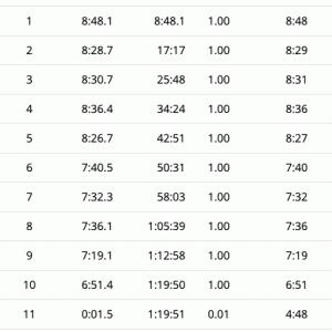 10km走る 2日目
