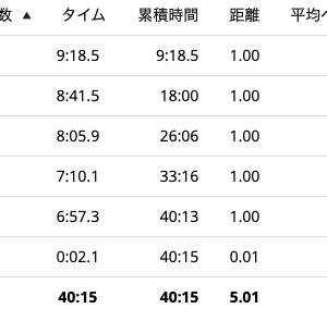 「疲労抜き」の5km