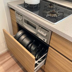 キッチンのカウンター下収納