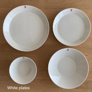 やっぱり使いやすい白いプレート