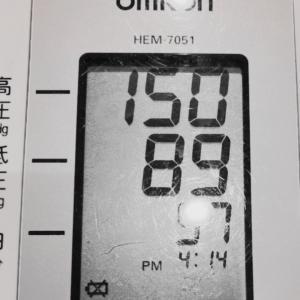 血圧が上がってきた