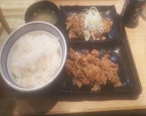 【沢山食べたいならこれでしょ】吉野家のW定食はかなりお得!!!【いつも吉野家でごめんなさい】