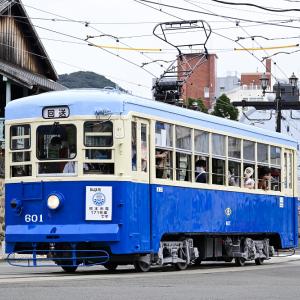 長崎電気軌道 601号車が久しぶりに走った。