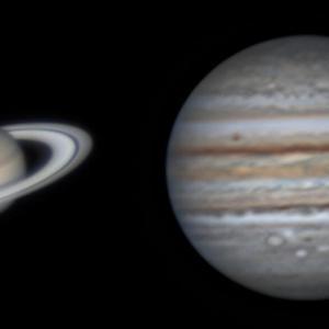 8月1日の土星と木星