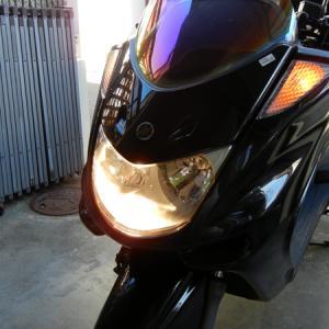 ビッグスクーター ヘッドライトバルブ交換
