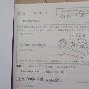 公文式フランス語修了!