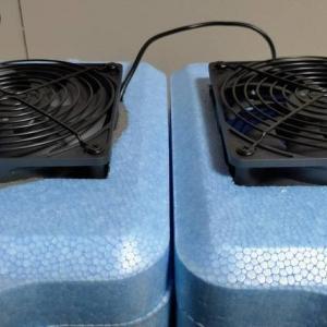 【自作クーラー改】静音ファン&強保冷剤でもっと涼しく快適に?