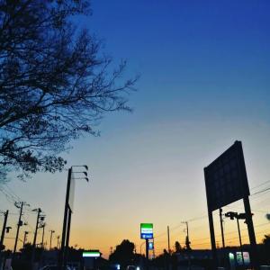 夕方の美景を散歩